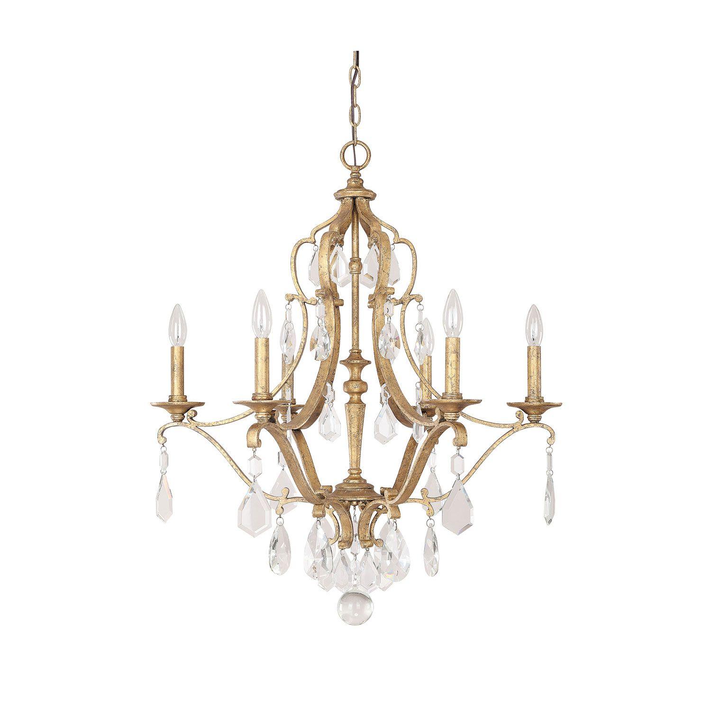 Capital Lighting Fixture pany Blakely Antique Gold Six Light