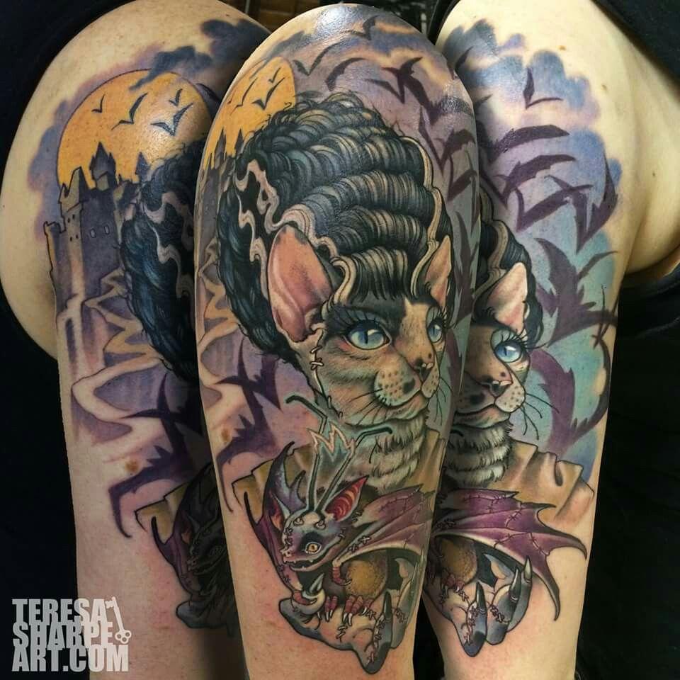 Bride of Frankenstein Cat. Teresa Sharpe. | teresa sharpe | Pinterest