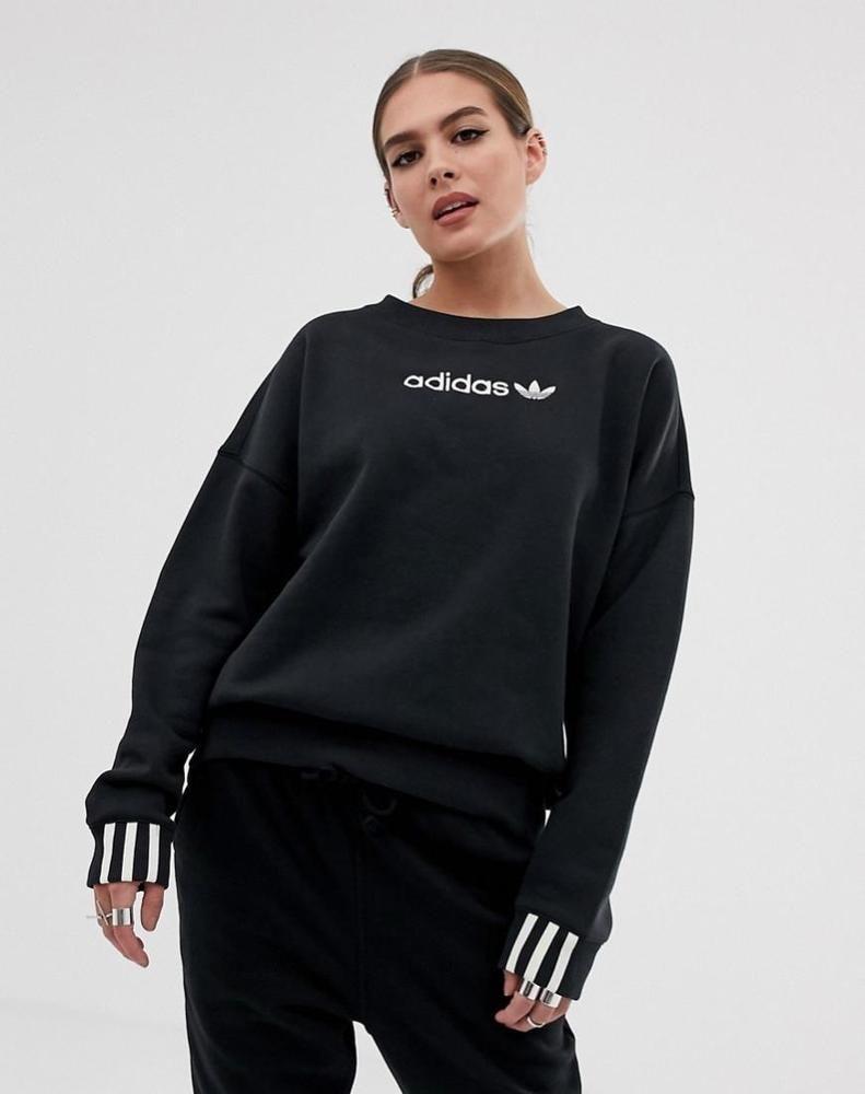 f6dcfbee womens adidas Originals Coeeze Fleece Sweatshirt in black | Clothing, Shoes  & Accessories, Women's Clothing, Activewear | eBay!