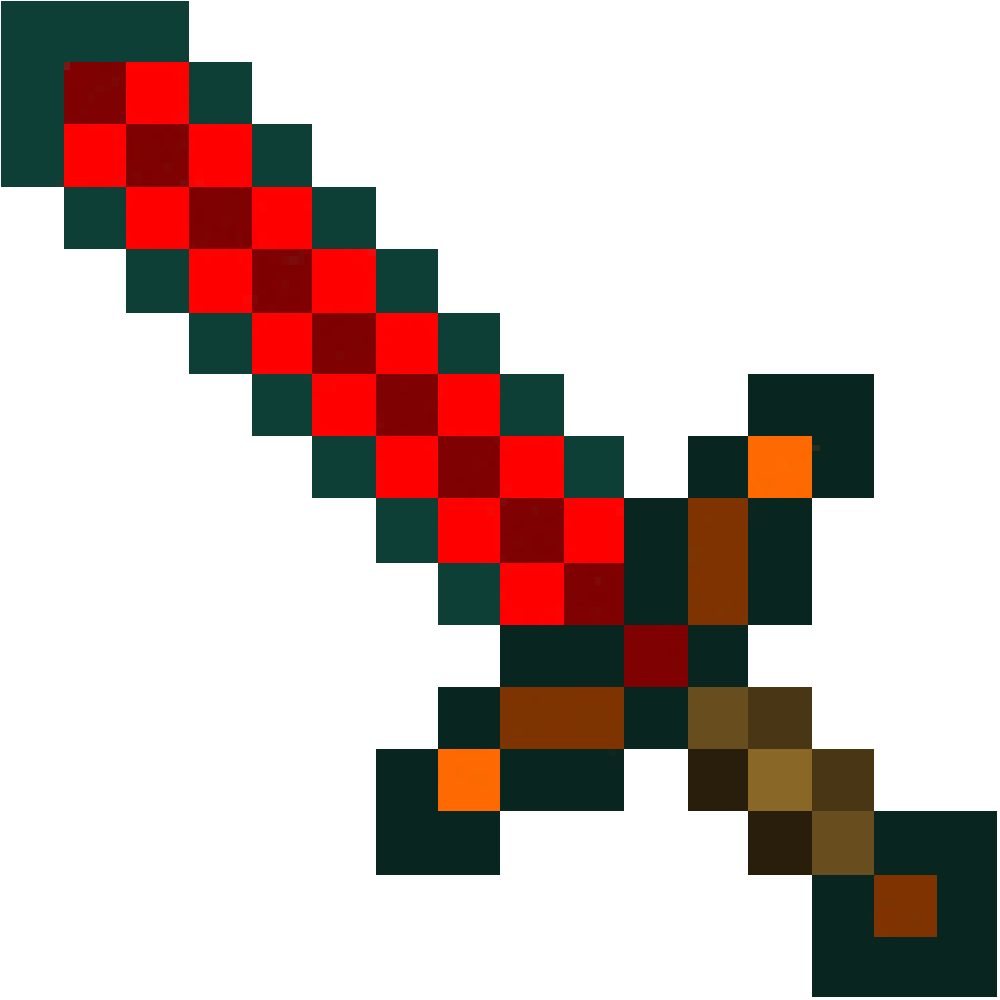 Minecraft Papercraft Redstone Sword Life Size Samuel