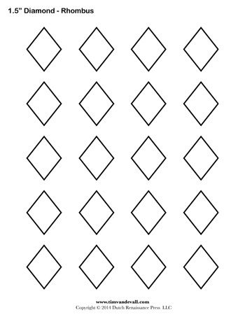 A printable diamond – rhombus shape sheet. | Halloween ...