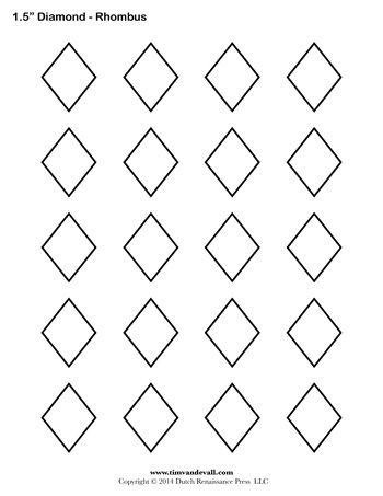 Diamond Templates 1 5 Inch Printable Art Templates Shape