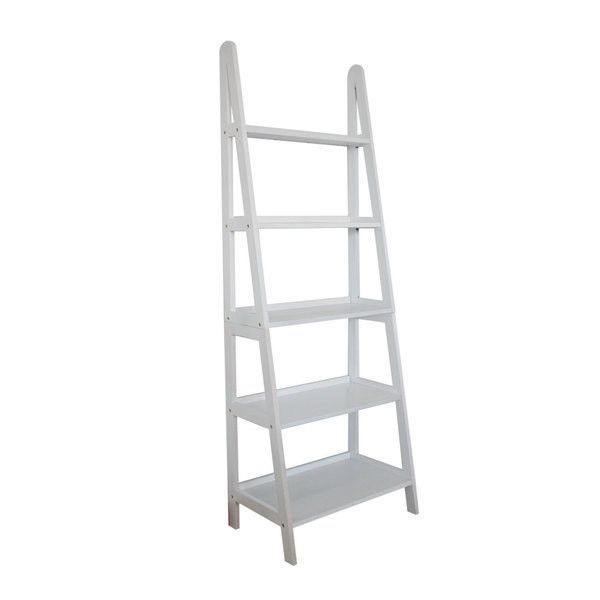 Metro Shop Mintra 5 Tier A Frame White Ladder Shelf White White Ladder Shelf Ladder Shelf White Ladder Bookshelf