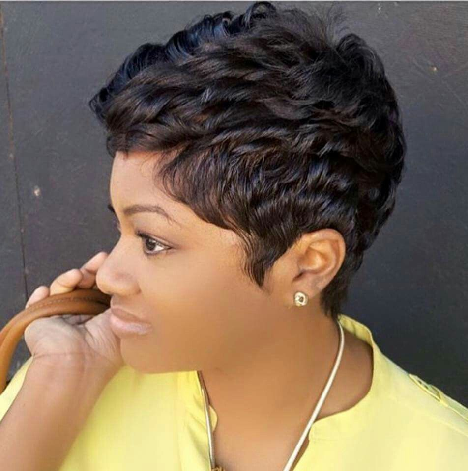 Like The River Salon In Atlanta Shared A Pixie Hairstyle Short Hair Styles Pixie Short Hair Styles Pixie Hairstyles