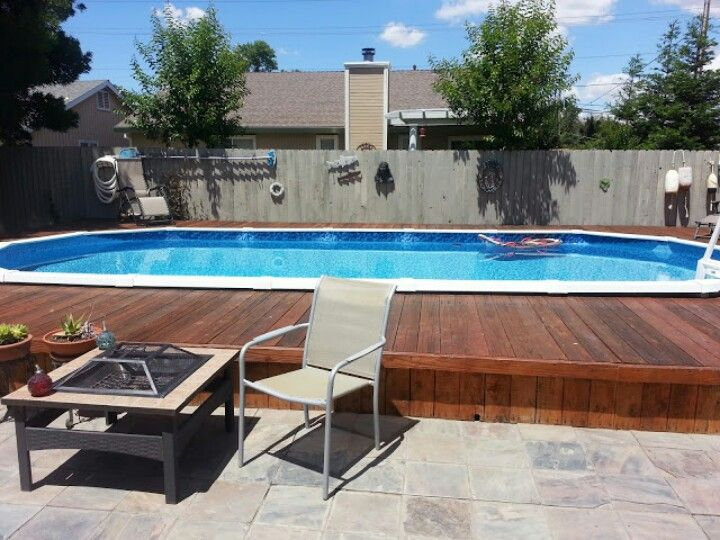 Sunken Above Ground Pool--ours Would Step Down Off The