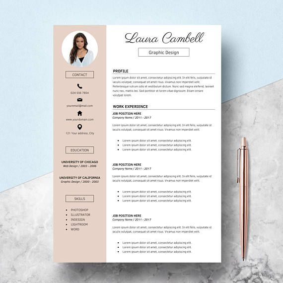 Resume Template  Cover Letter References Cv Template For  Resume
