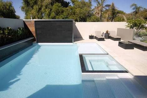 White Pool With Black Waterline Tile Google Search