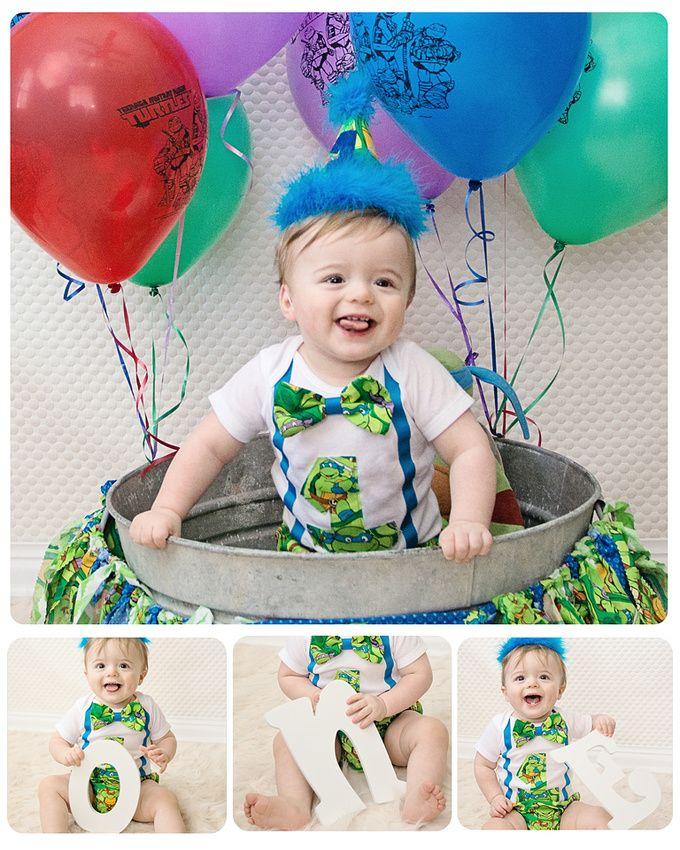 Ninja Turtle S Photo Idea Tmnt Birthday 1st Birthday Pictures Baby First Birthday