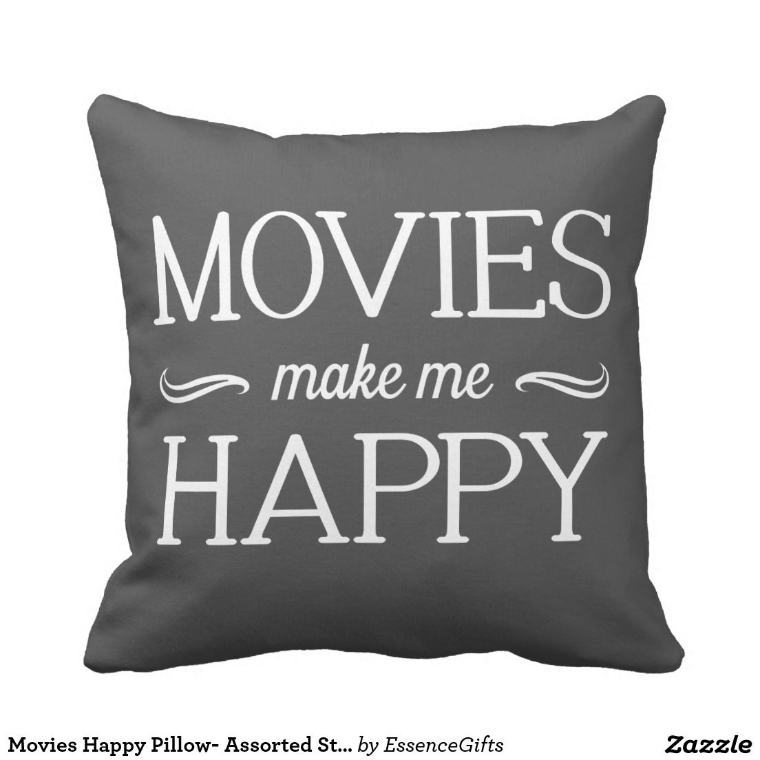 Movies Happy Pillow- Assorted Styles & Colors