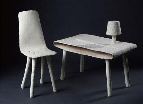 Experimental Furniture Made From Waste Sugar Cane Fiber Bagasse