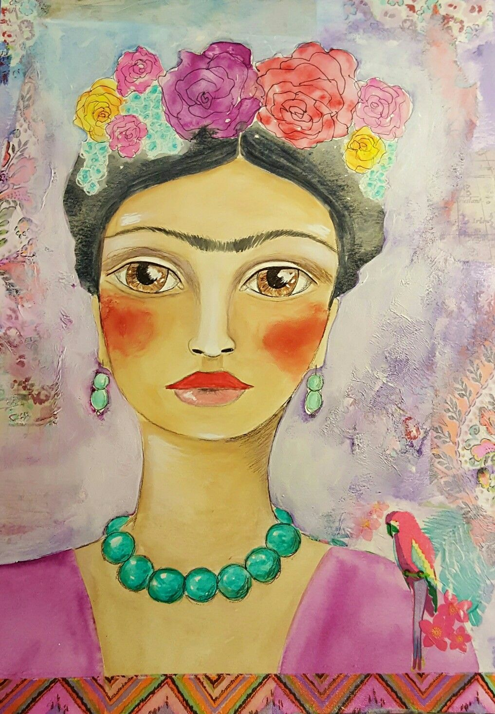 Freida | RedHeARTs MiXed MeDia | Face art, Art, Disney characters