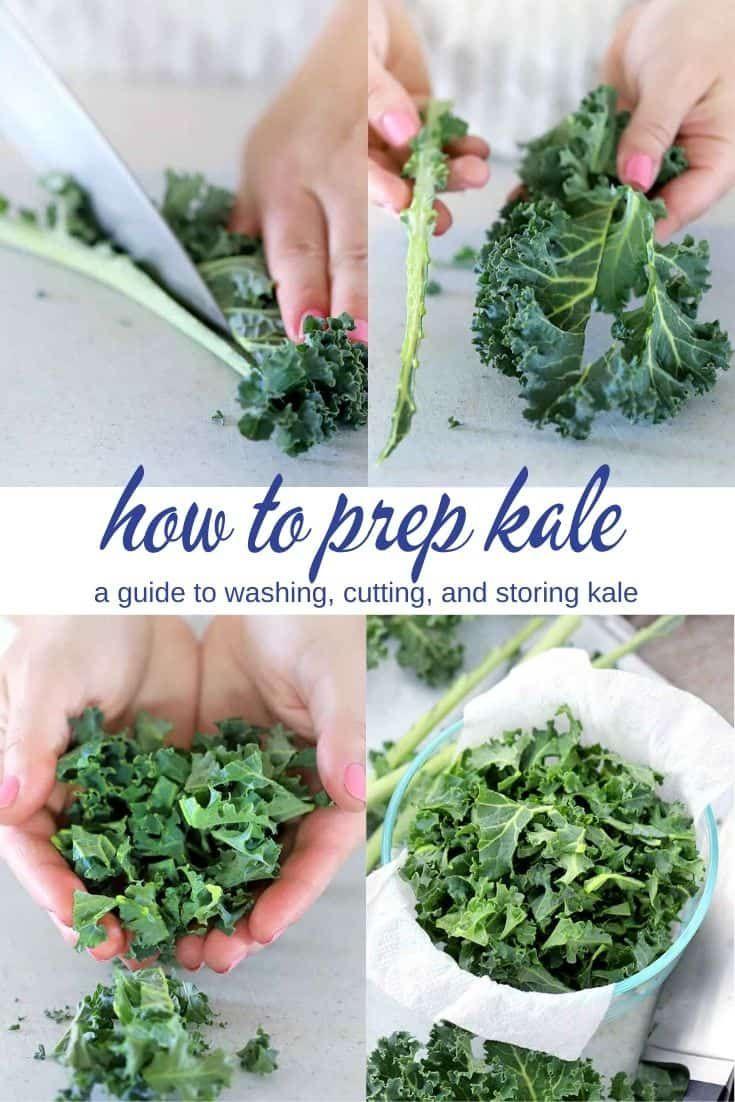 How to Prep Kale (cutting, washing, and storing ka