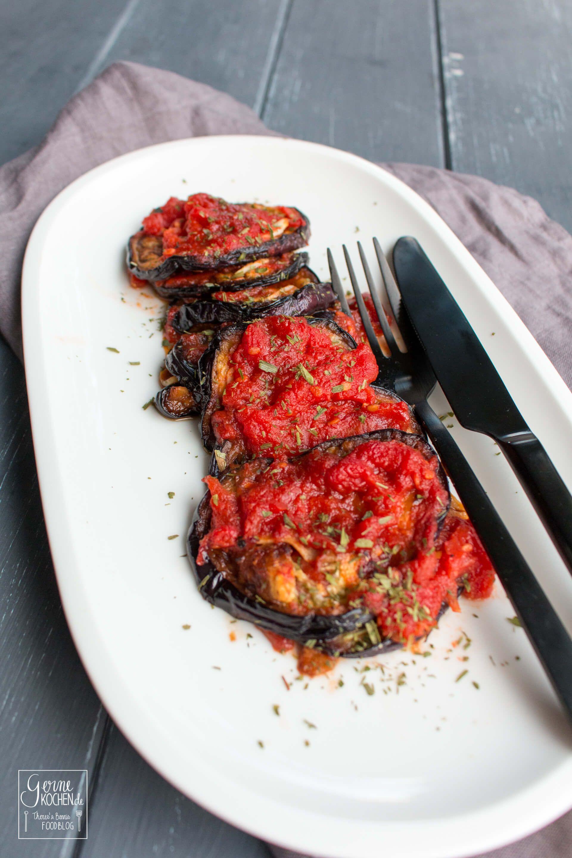 Photo of Rezept: Auberginen mit Knoblauch und Tomaten – Gernekochen