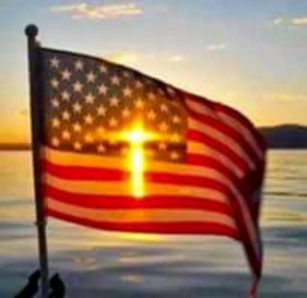 american flag in the sun postcard | Zazzle.com