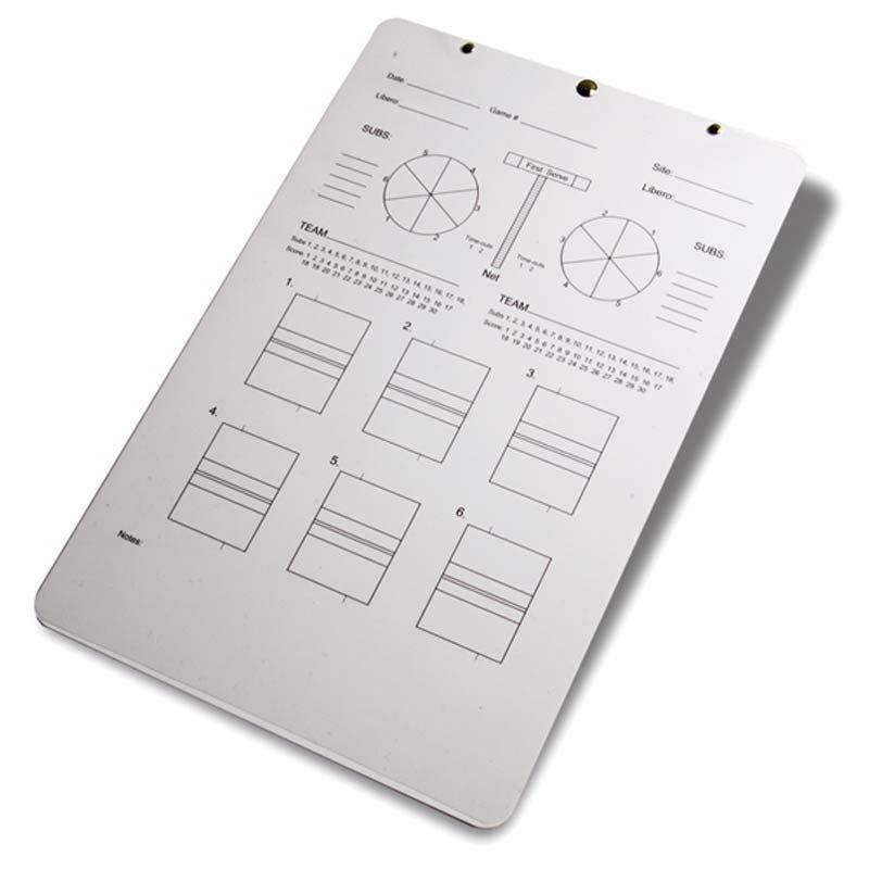 Coaches Deluxe Volleyball Clipboard By Tandem Sport Coaching Volleyball Tandem