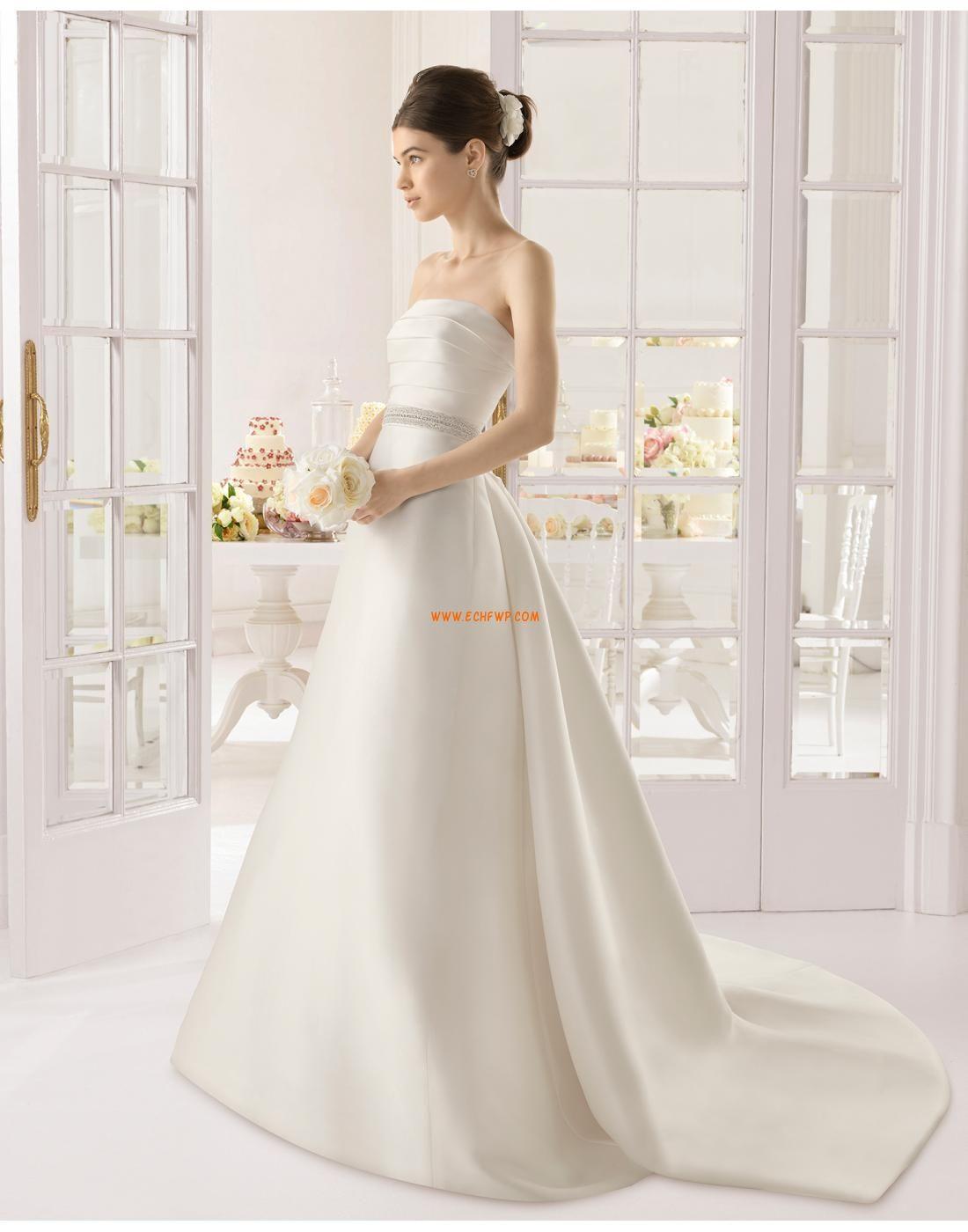 Vom Vintage-Stil inspiriert Satin Klassisch & Zeitlos Brautkleider ...