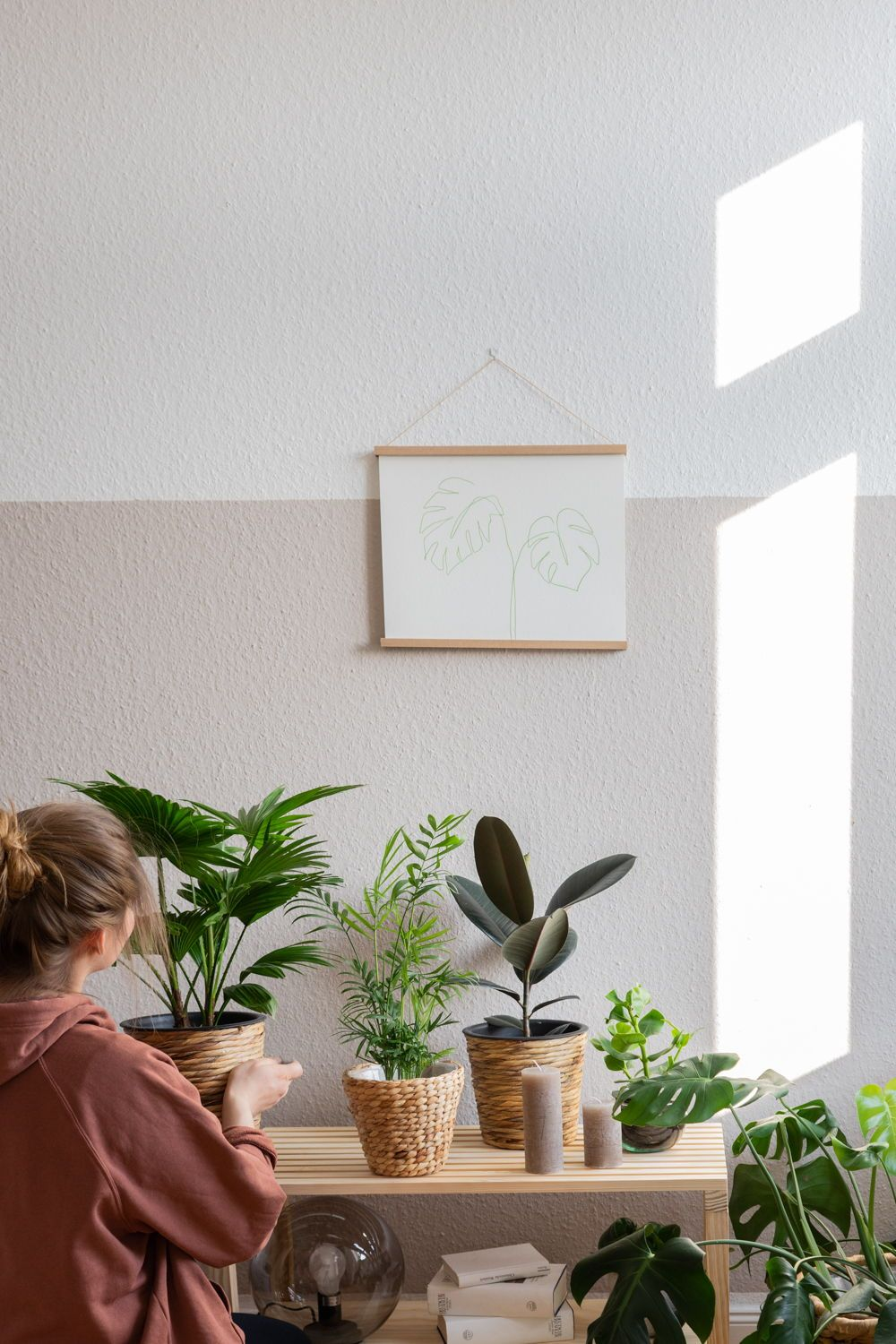 DIY Deko Idee Urban Jungle Feeling im Schlafzimmer Deko