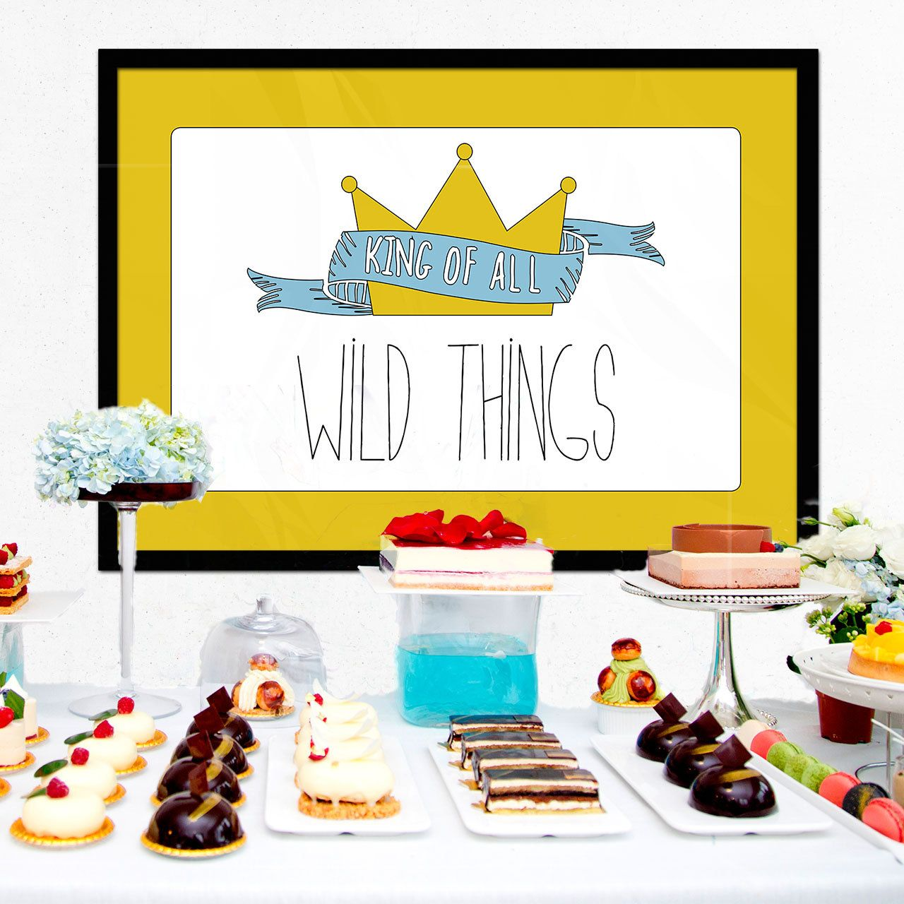 Where the Wild Things Are Party Backdrop - Baby Shower or Birthday ...