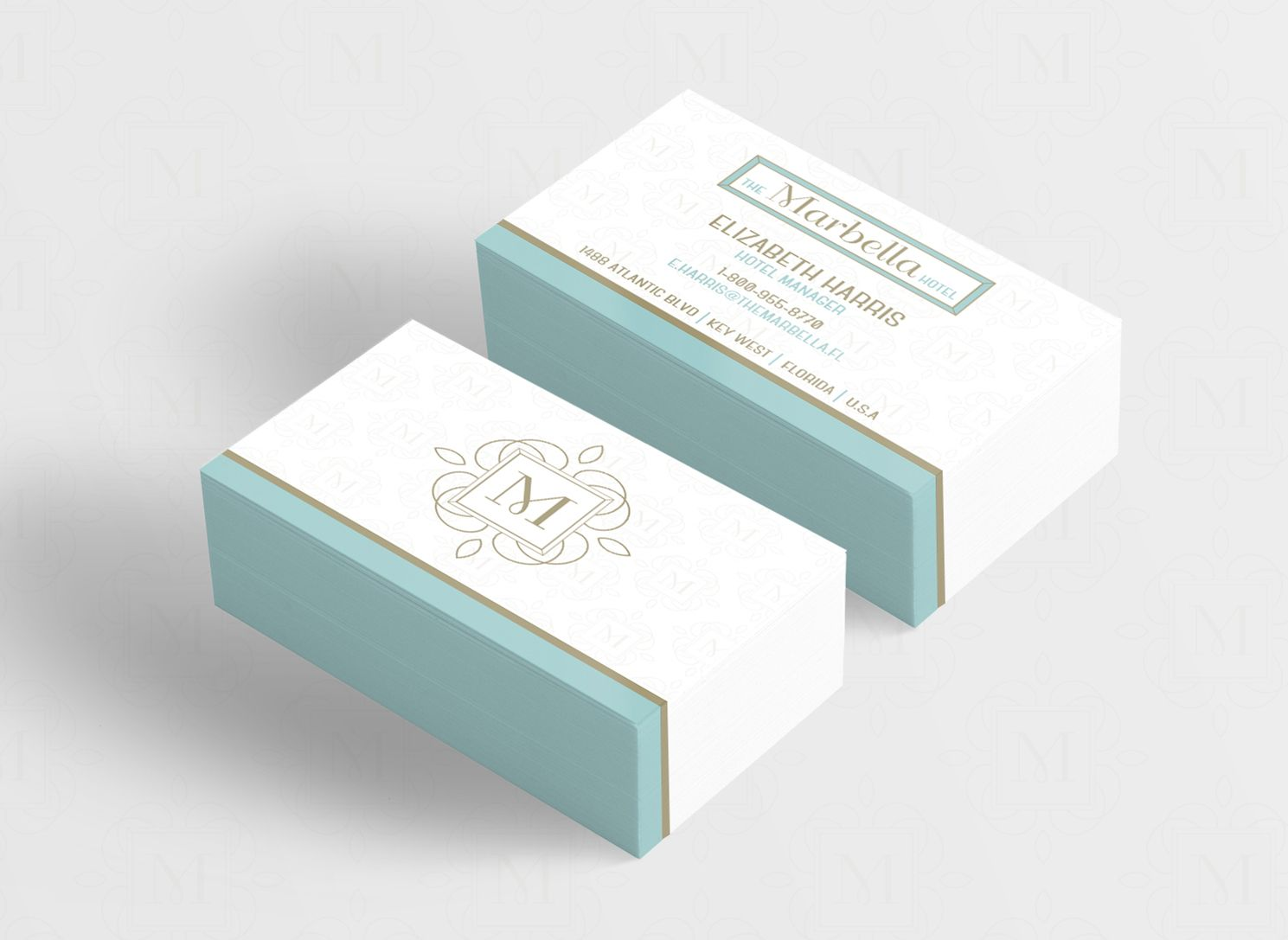 The Marbella Hotel Branding Brief - Business Card Design © 2016 KeepCreative. All rights reserved.