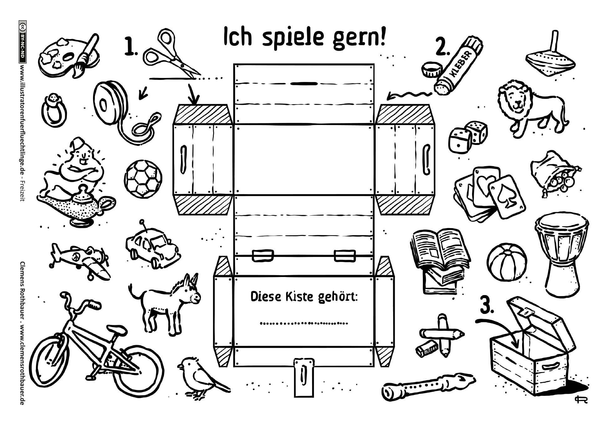 Download als pdf freizeit spielzeug schatzkiste basteln rothbauer kids preschool - Schatzkiste basteln ...