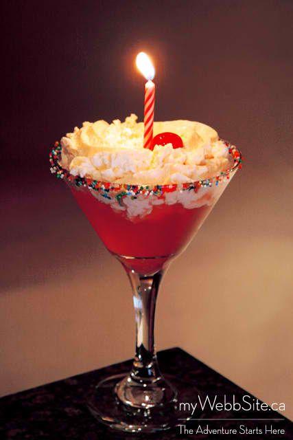 Martini Birthday Cake Mmm yam delicious Pinterest Martinis