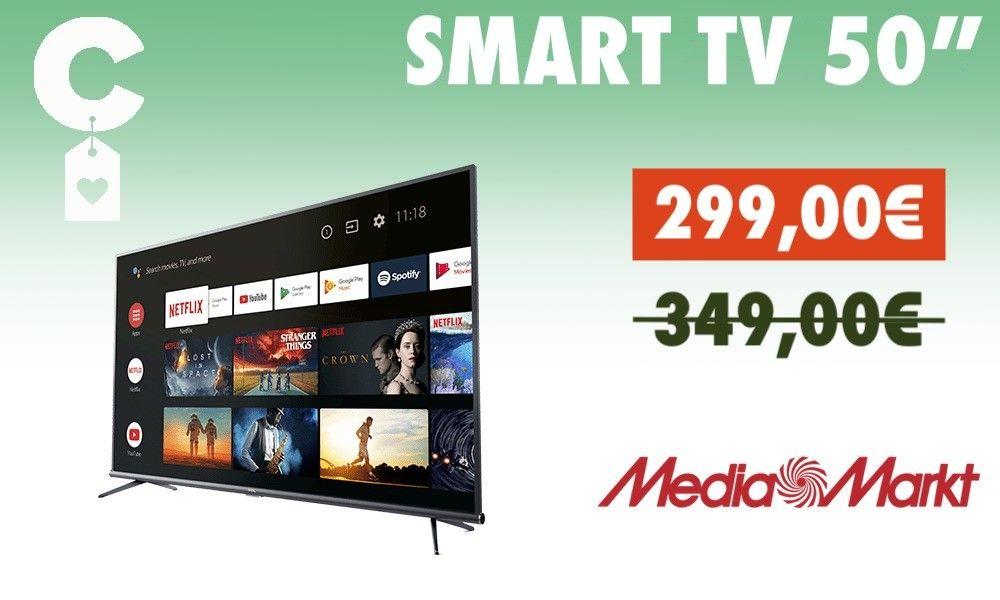 Este Smart Tv 4k De 50 Pulgadas Es El Chollo Del Aniversario De Mediamarkt Alexa Android Tv Y Chromecast Por Menos De 300 Euros Smart Tv Tv Resolucion 4k