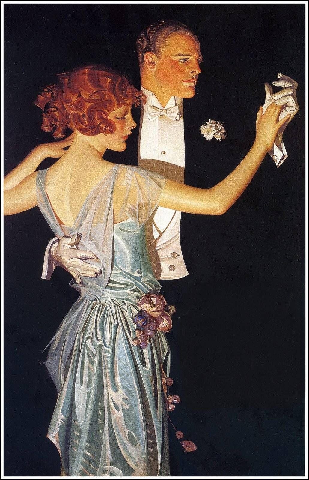Man Woman Dancing - Joseph Christian Leyendecker