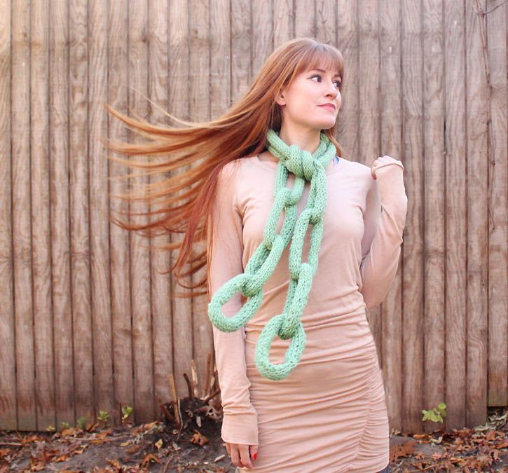 oversized chain scarf pattern