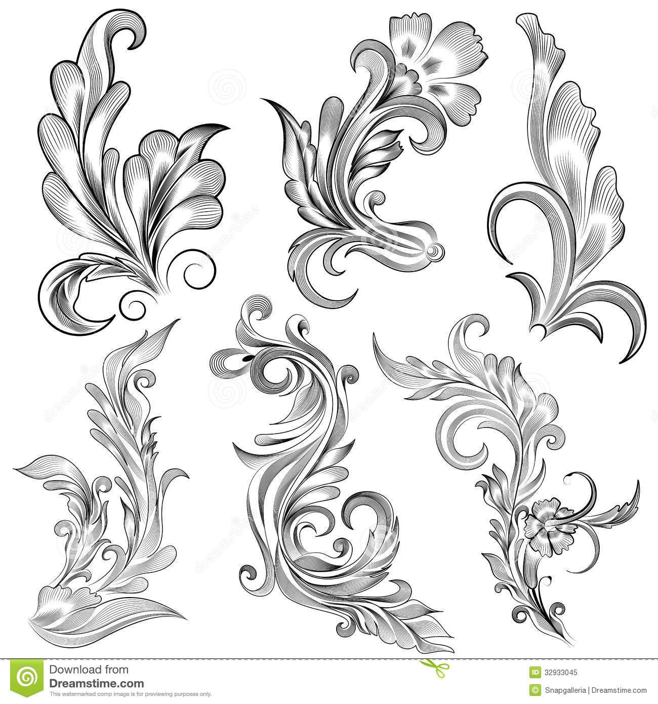 Floral calligraphic design easy to edit vector