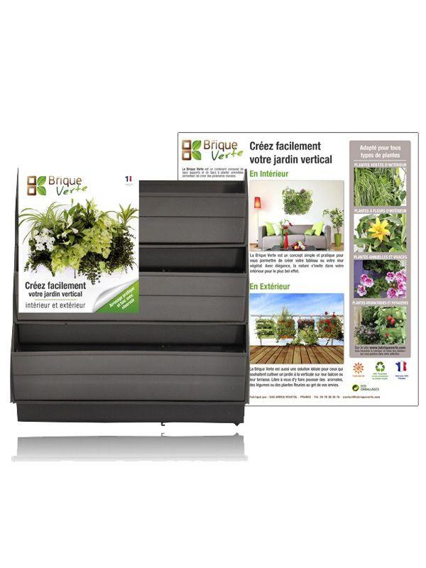 Mur végétal BRIQUE VERTE gris Murs végétaux Pinterest - faire un plan de maison facilement