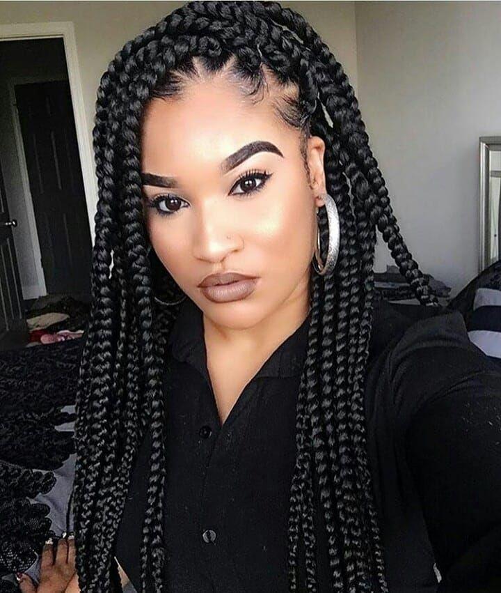 Cute Box Braids Hairstyles You Will Love Hairstyles Haircuts For African American Cute Box Braids Braided Hairstyles Box Braids Hairstyles