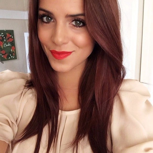 Brown Hair With Hints Of Red More