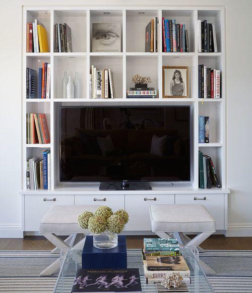 Built Ins Around Tv Living Room Shelves Family Room Design