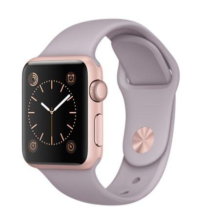 Apple Watch Sport - 38 mm urkasse av aluminium i rosegull-finish med lavendel Sport Band - Apple (NO)