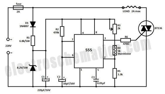 Digital Temperature Controller Circuit Diagram | Temperature Controller Circuit Schematic Diy Circuits Circuit
