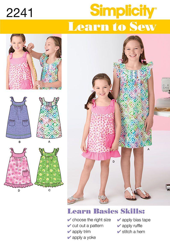 Pin by kristin smith on fabrics pinterest children s simplicity 2241 learn to sew childs girls dresses dress patterns girlssummer jeuxipadfo Gallery