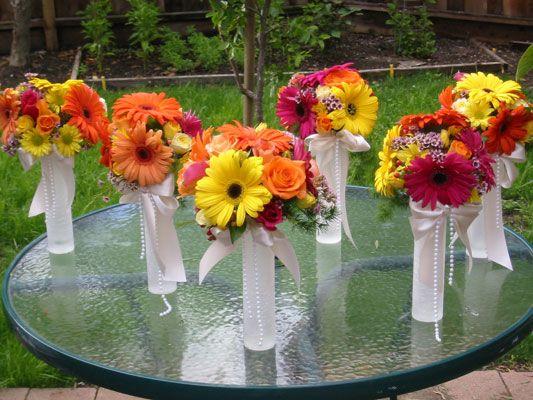 Orange orange and more orange daisy wedding flowers daisy daisy wedding centerpieces junglespirit Images