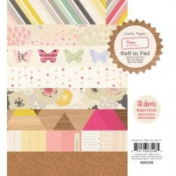 """Crate Paper - Notes & Things - 6x6"""" Patterned Paper Pad"""