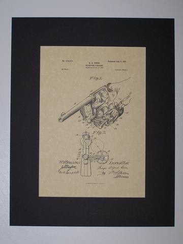 Owen Revolving Firearm 1901 Patent drawing HistoricPatentArt.com Gun