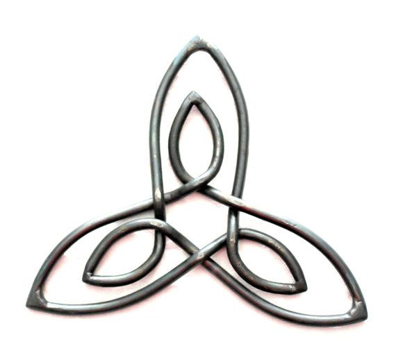 Great Gift Hand Forged Iron Celtic Symbol Inner Strength Wall Art