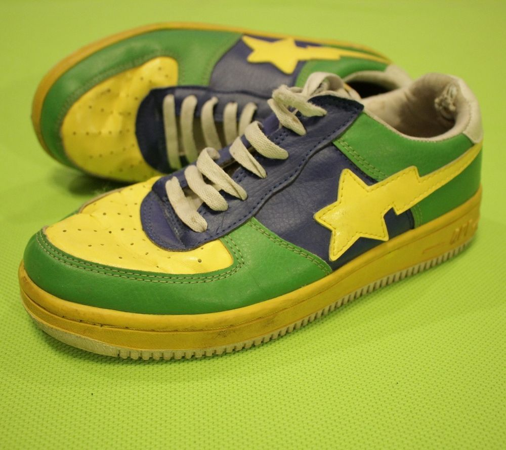 41cec6eb5f6855 Bapesta a Bathing Ape Bape Foot Soldier Fs-001 Size 7 Green Blue Yellow  Sneakers  Bape  AthleticSneakers