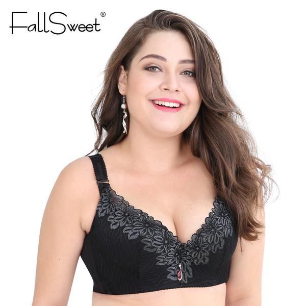 b48951a12f340  BestPrice  Fashion FallSweet D E cup Lace Push Up bra for Plus Size Women  44 46 48 50 Women Large Cup Bras Brassiere