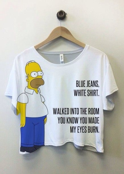 Blouse: lana del rey, shirt, the simpsons, top, t-shirt, funny ...