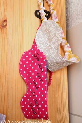 Schlafmaske nähen- Anleitung für Anfänger ⋆ Mamahoch2