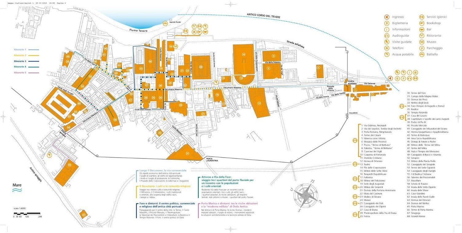Ostia Antica Map Ostia Map Roman Republic Vacation Trips