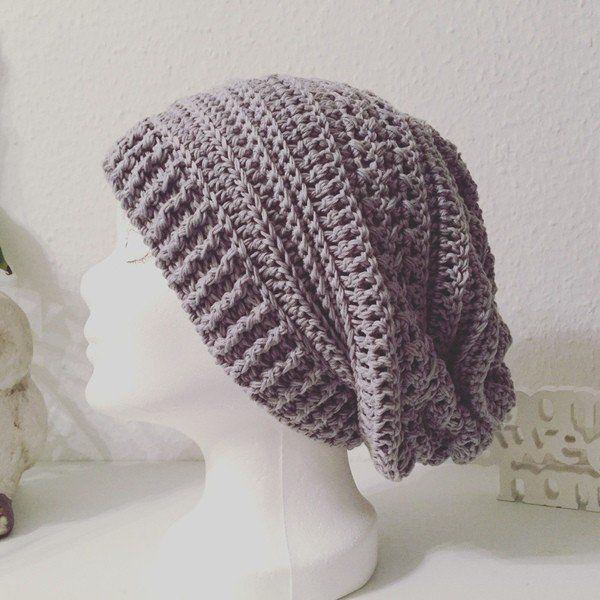 Jetzt eine super einfache Mütze häkeln: Aus einem Rechteck wird ganz ...