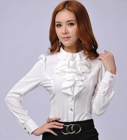 womens white collared dress shirt
