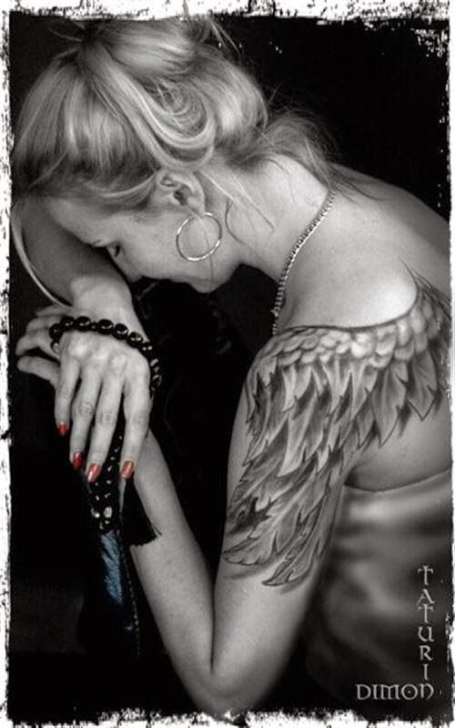 91976d398e662 My fashion style: Beautiful Angel Wing Tattoos For Women | Tattoos ...