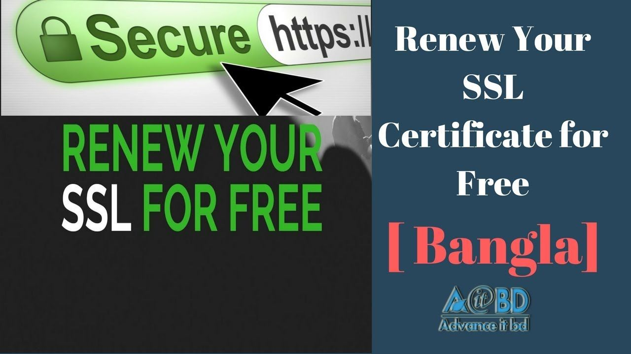 How To Renew Ssl Certificate For Free Bangla Tutorial Tech Banga