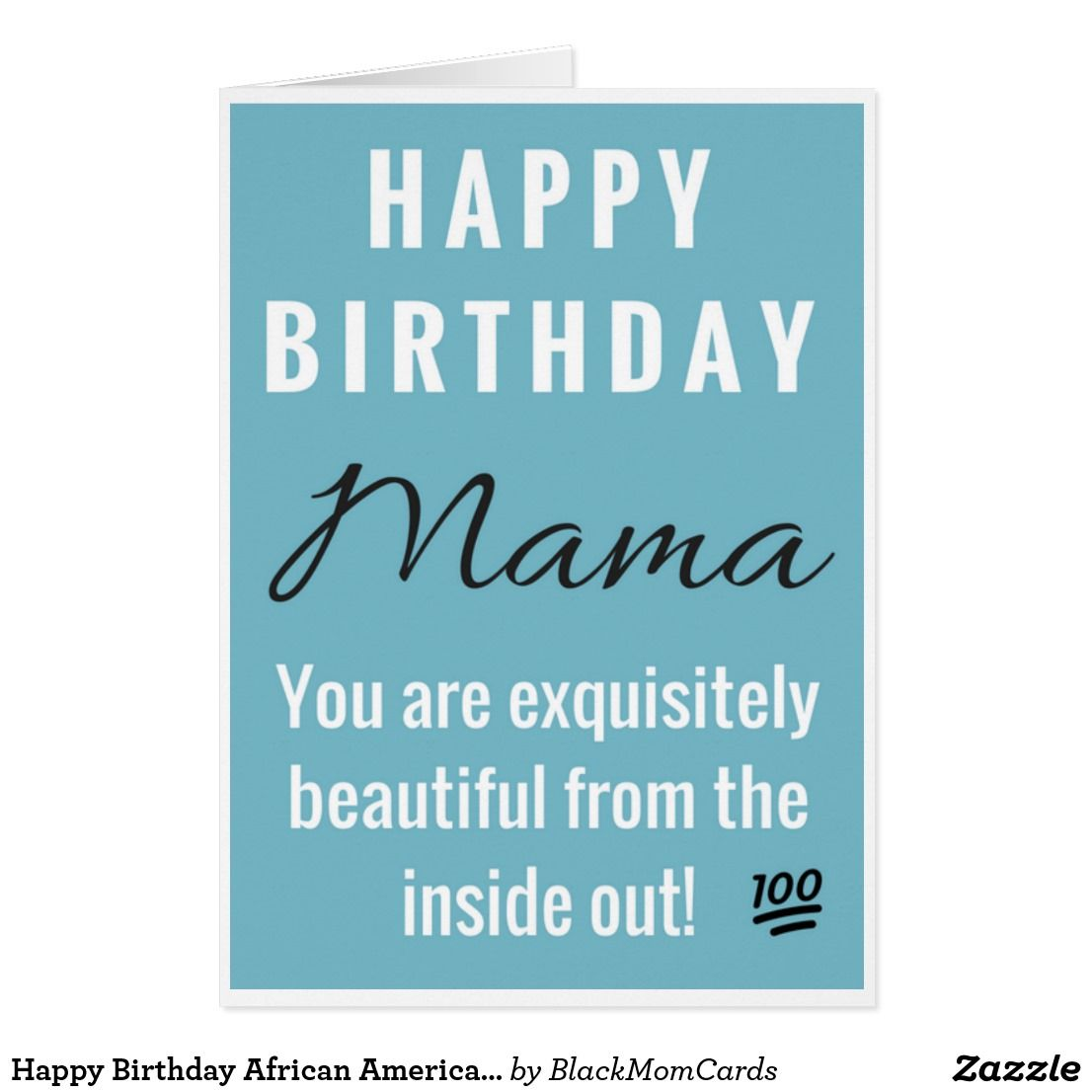 Happy Birthday African American Mama Black Queen Card Zazzle Com Happy Birthday African American Happy Birthday Greeting Card Happy Birthday